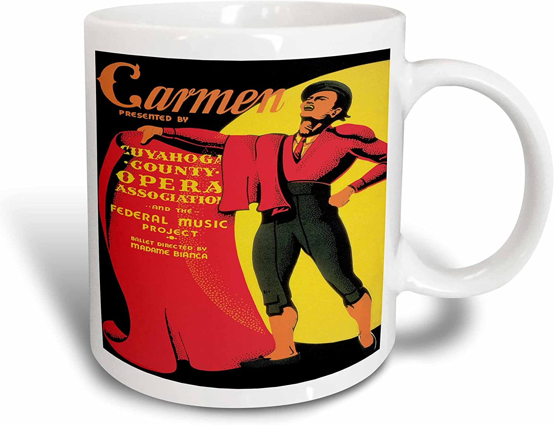 3drose Carman Presented By Cuyahoga County Opera Association Wpa Ceramic Mug 15 Oz White Kitchen Dining