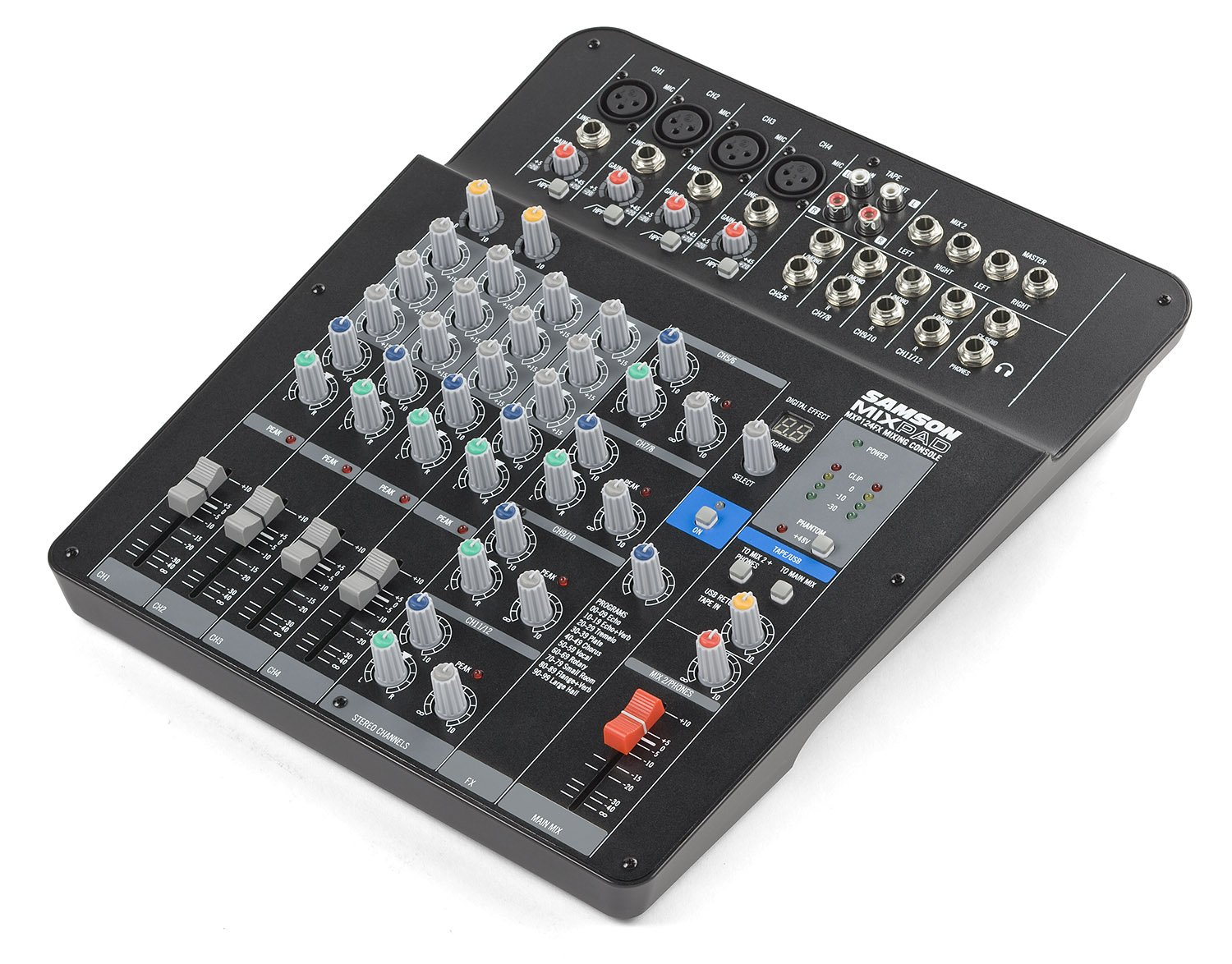 Samson Mixpad MXP124FX Compact, 12-Channel Analog Stereo Mixer with Effects and USB