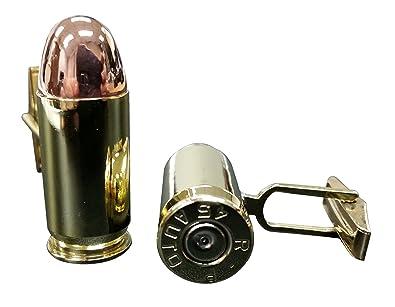 Amazon com:  45 Caliber Bullet Cufflinks Brass & Copper - Real