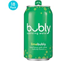 18-Pack bubly 12 fl oz. Sparkling Water Cans (Lime or Cherry)