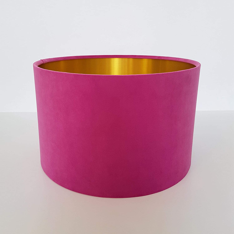 Pink /& Brushed Gold Lampshade Light Shade