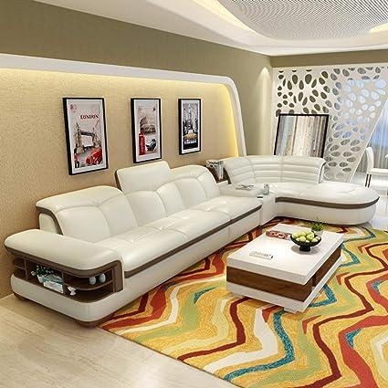 Amazon.com: My Aashis Luxury (2 seat 1 arm+Lounge) Modern Bonded ...