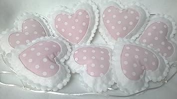 Kinderzimmer Decor Ideen Baby Pink Und Weiß Polka Dot Herz Kinderzimmer  Wimpelkette Wand Dekoration Zum Aufhängen