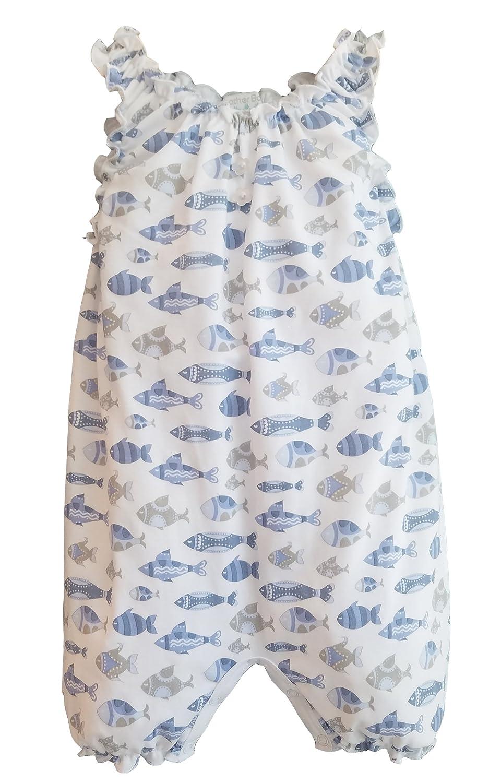 【通販激安】 フェザーベビーガールズ服PimaコットンノースリーブワンピーススーツバブルShortieベビーロンパース B07CJSLGSF Fish on Blue - Blue on White 0 B07CJSLGSF - 3 Months 0 - 3 Months|Fish - Blue on White, popo furniture:ac5b9e78 --- martinemoeykens-com.access.secure-ssl-servers.info