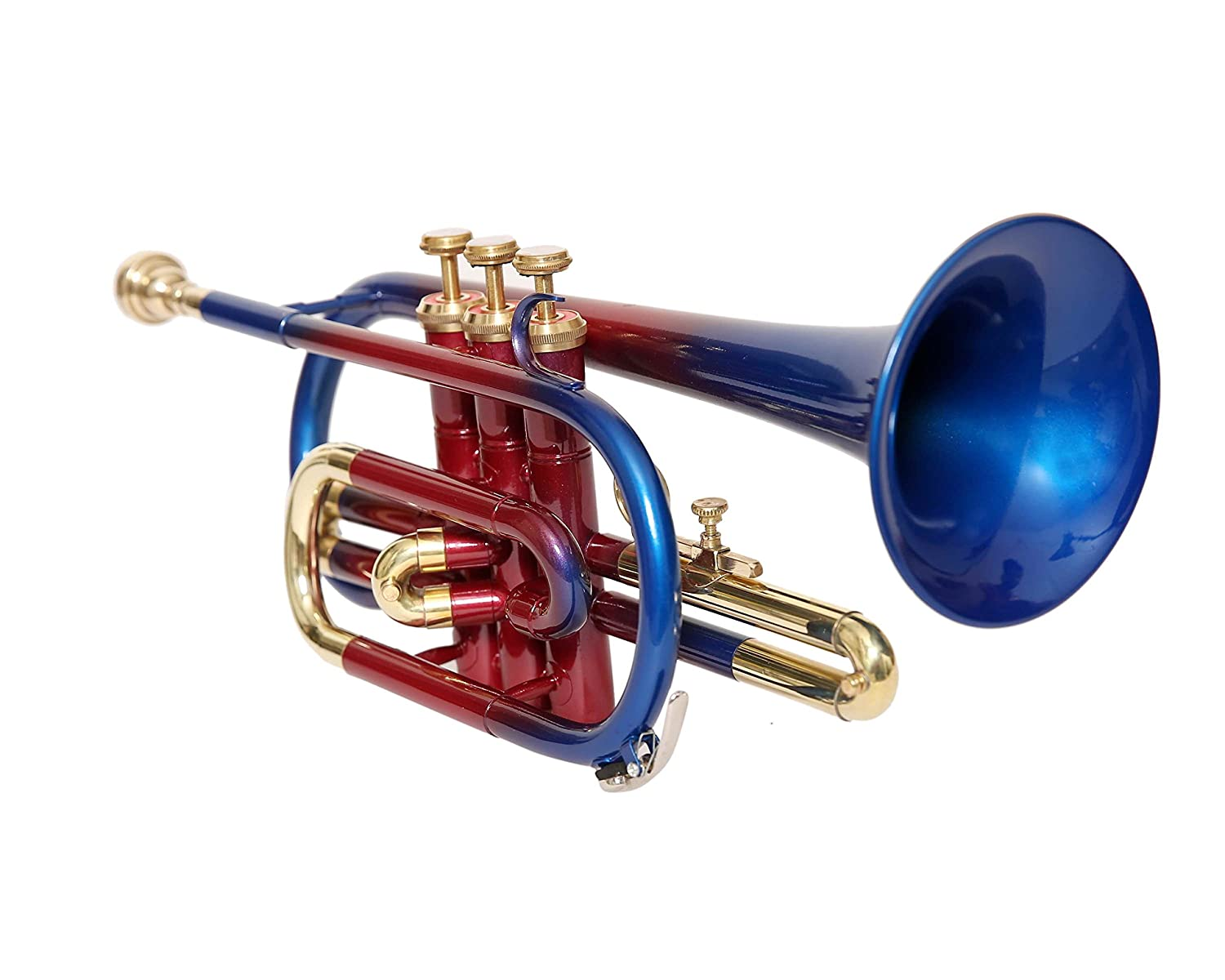 C-11 CORNET Bb PITCH MULTI COLOR WITH HARD CASE AND MOUTHPIECE Nasir Ali & Co.