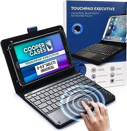 Cooper Panel Táctil Ejecutiva [Teclado de Ratón Multitáctil] Funda para Tableta de 8-8.9 Pulgadas | Ajuste Universal | iPadOS, Android, Windows (Azul)