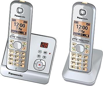 Panasonic KX-TG6722GS Duo - Teléfono inalámbrico (pantalla de 1,8
