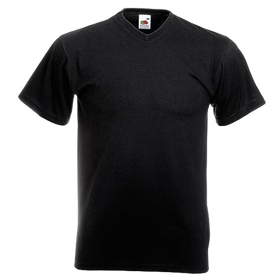 Fruit of the Loom Camiseta Básica de Pico de Manga Corta de Calidad Superior para Hombre (4XL/Azul Marino) Tk7fi