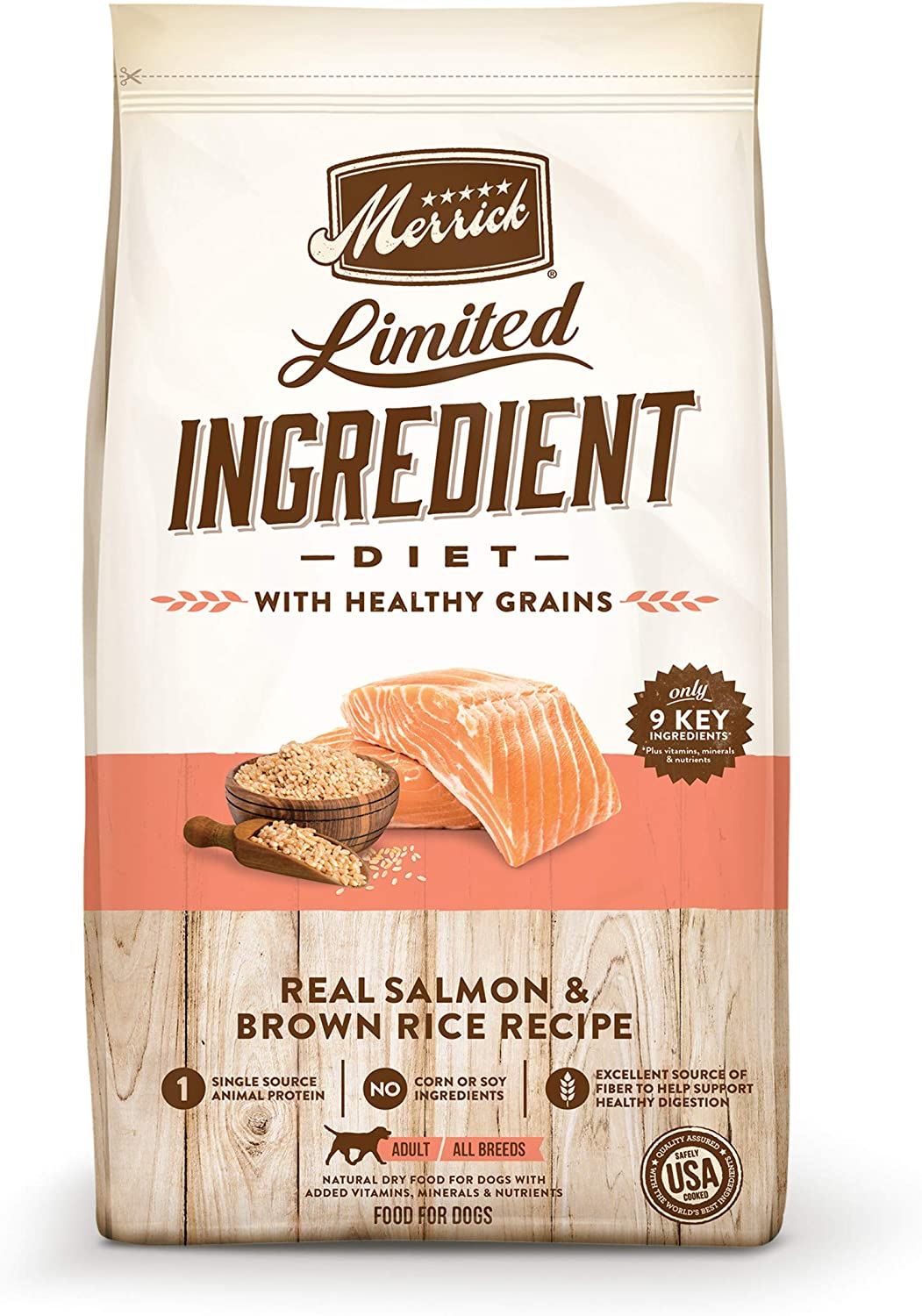 Merrick Limited Ingredient Diet Salmon & Brown Rice Recipe Dry Dog Food