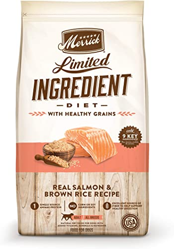 Merrick Limited Ingredient Diet Salmon Brown Rice Recipe Dry Dog Food