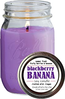 product image for Dianne's Custom Candles Pint Jar Candle - 11.6 oz (BlackBerry Banana)