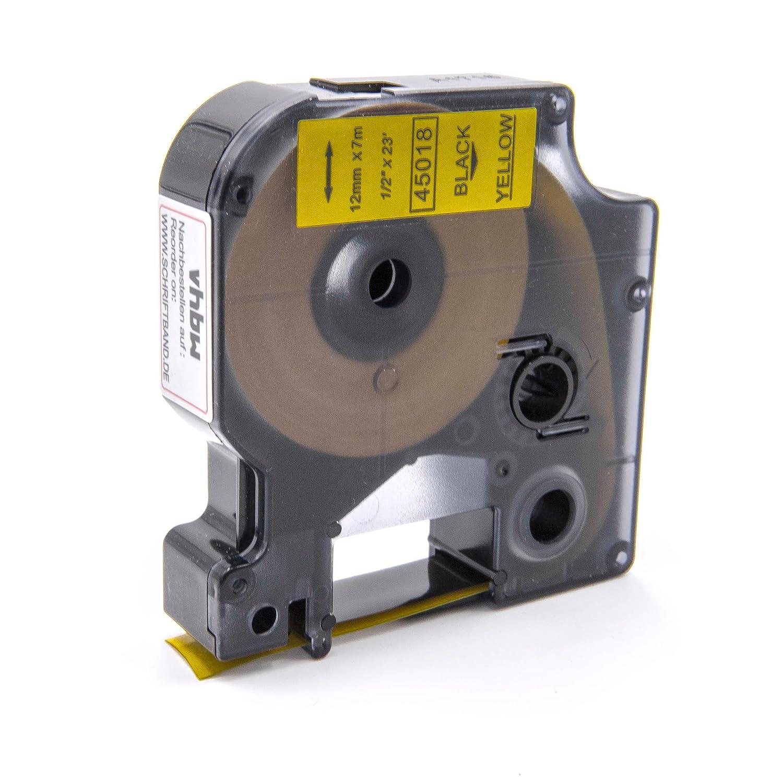 Cassette Cartouche Ruban 12mm vhbw pour Dymo LabelMaker PC, PC2, 1000, 1000+, 2000, 3500, 4500, 5000, 5500 comme Dymo D1, 45016. VHBW4251004674520