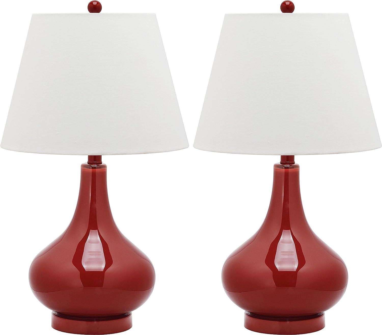 Colección de iluminación Safavieh Amy calabaza de lámpara de mesa de cristal: Amazon.es: Hogar