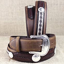 Tony Lama Mens Duke Leather Belt - 7239Lasst