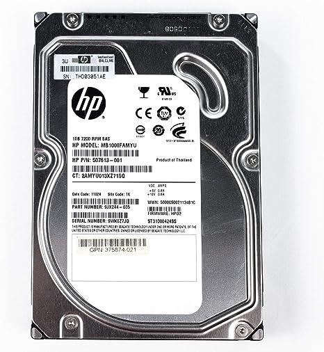 "507614-B21 508011-001 HP 1TB 7200RPM SAS 6G 3.5/"" DUAL PORT MDL 507613-001 HD"
