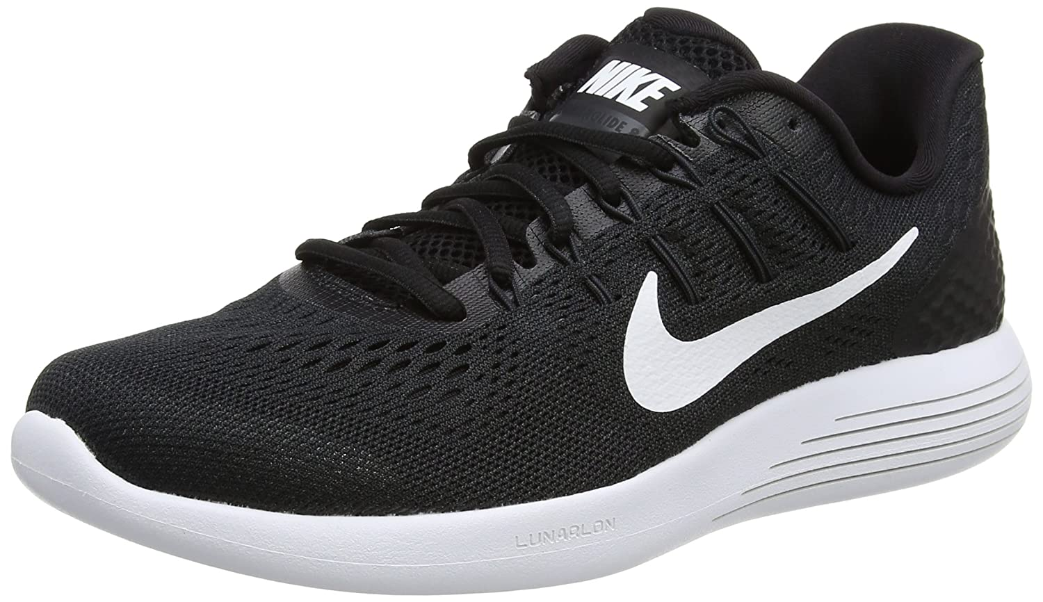 uk availability cb4d6 9cbca Nike Lunarglide 8 Men's Running Shoes, Black/White ...