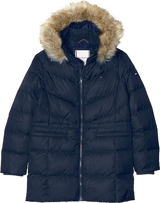 Tommy Hilfiger Mädchen Dg Essential Down Coat Mantel