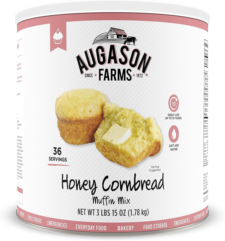 Augason Farms Honey Cornbread Muffin Mix 3 lbs 15 oz No. 10 Can