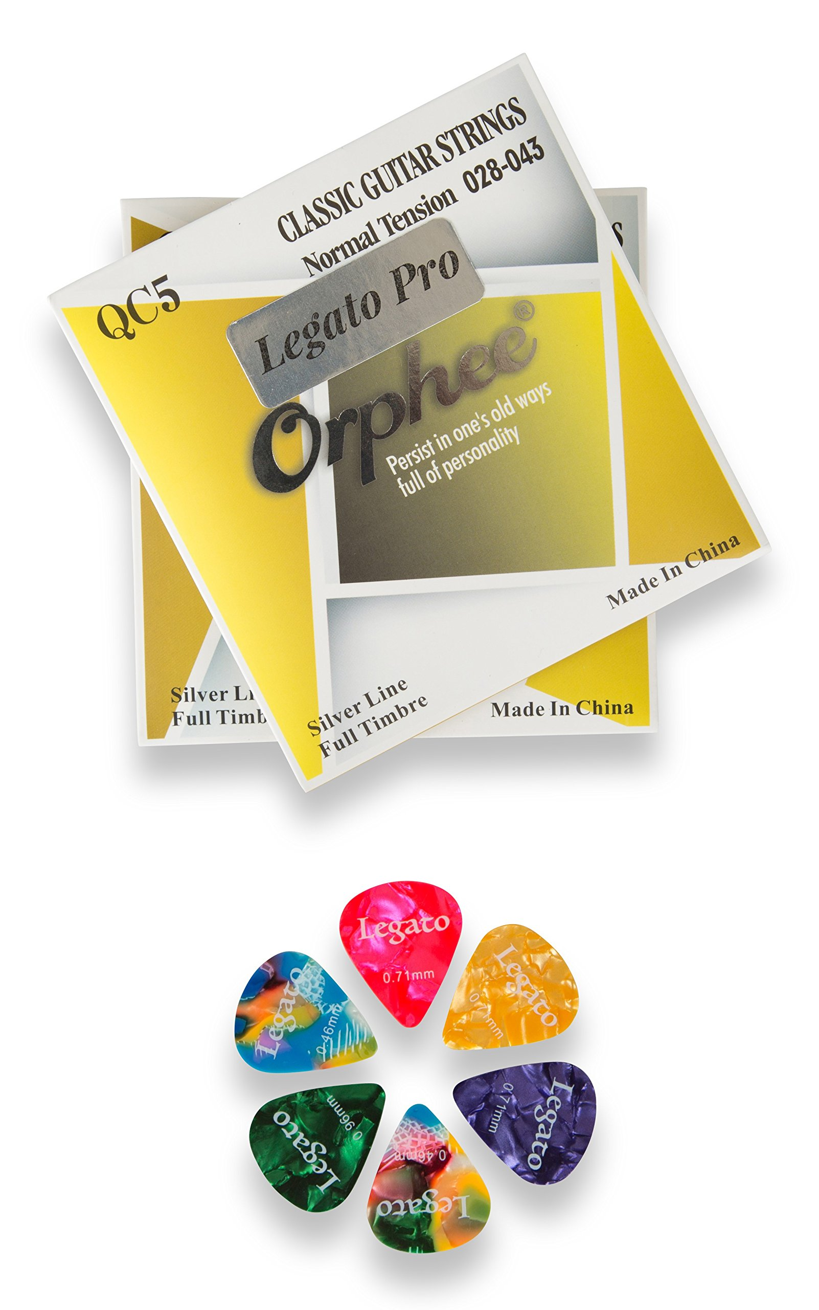 Nylon Classical Acoustic Guitar Strings for Beginners to Pro Level Normal Tension (2 Pack) Bundle