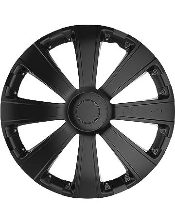 Car Plus 8050RSB RST Black - Juego de 4 tapacubos de alta calidad color negro,