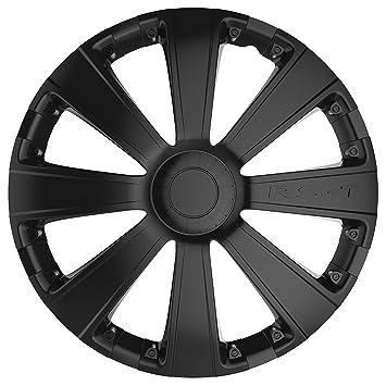 Car Plus 8050RSB RST Black- Juego de 4 tapacubos de alta calidad color negro, 14 Pulgadas: Amazon.es: Coche y moto