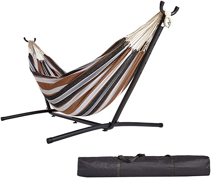 AmazonBasics Fabric Hammock with Stand – Best Brazilian Poolside Hammock