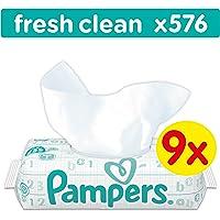 Pampers Fresh Clean Feuchttücher, 576Tücher, 9erPack (9 x 64 Stück)