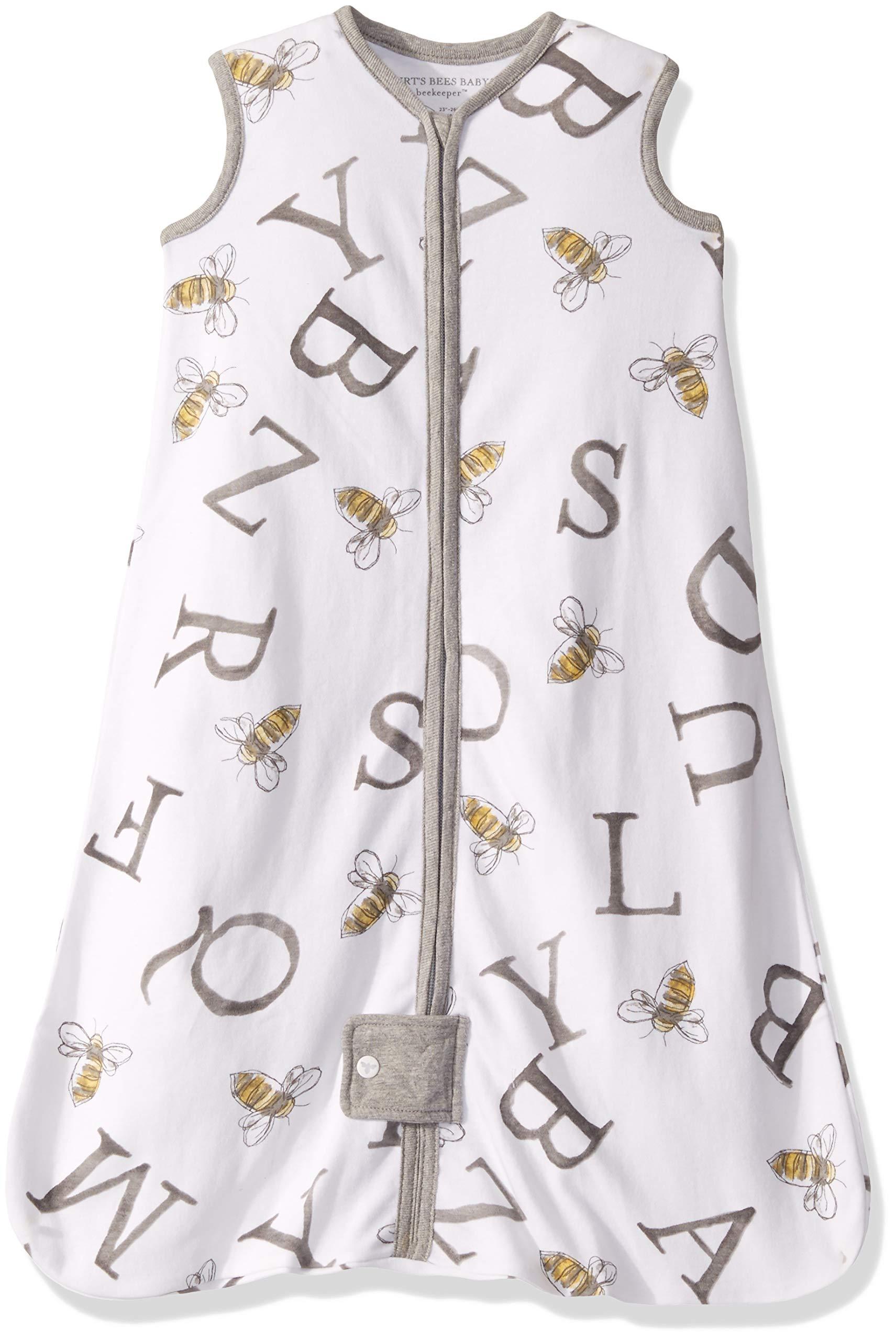 Burt's Bees Baby Baby Unisex Pajamas, Zip-Front Non-Slip Footed Sleeper Pjs, Organic Cotton