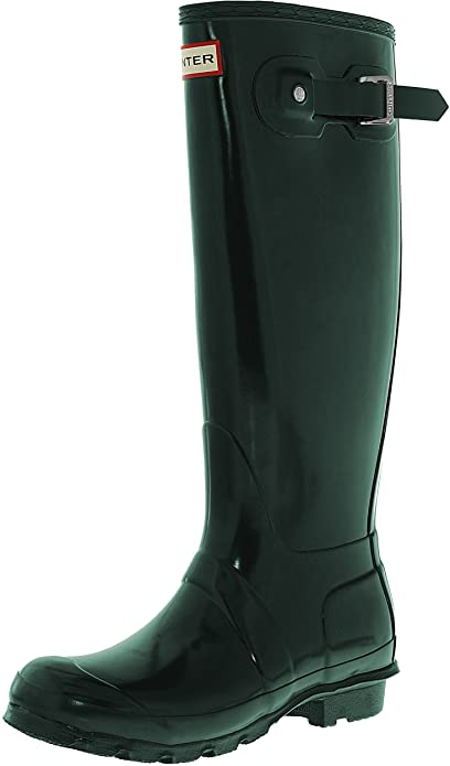 Mujer Hunter Original Adjustable Back Gloss Lluvia Botas De Goma Botas - Marina - 40/41 ShQDMytbvY