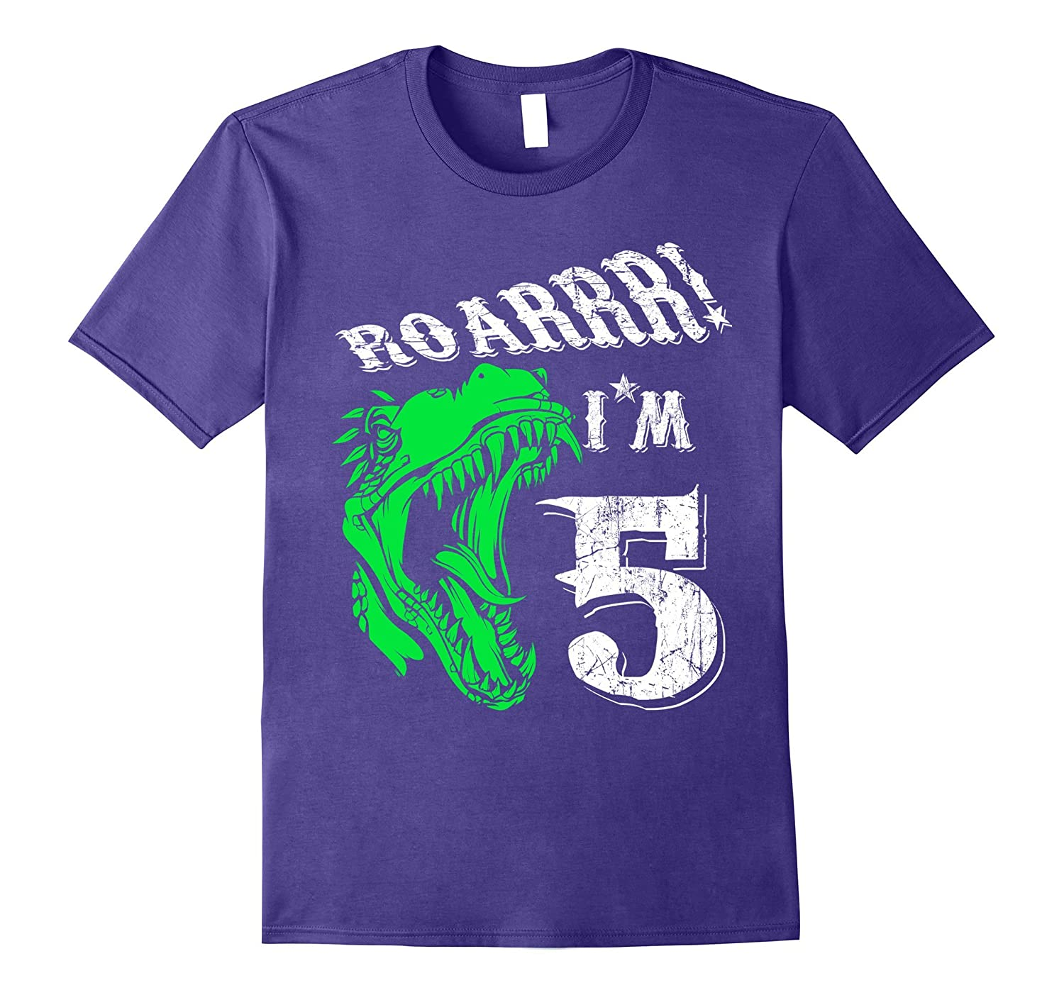 5 years old 5th Birthday T-Shirt - Dinosaur Tee Gift For Boy-CL