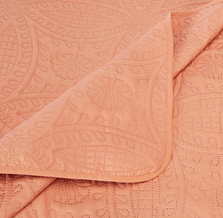 Queen, Purple Chezmoi Collection Austin 3-Piece Oversized Bedspread Coverlet Set