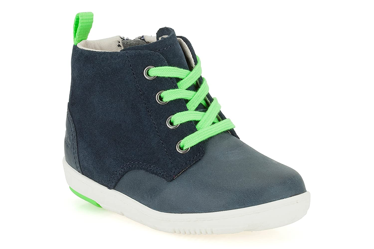 fa12b4a1d586 Clarks Maxi Hehe Boys First Boots 4.5 F Navy  Amazon.co.uk  Shoes   Bags