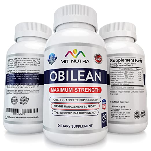 1 OBILEAN Slimming Appetite Suppressant 375 37.5 Fast Best Diet Pills That Work 9