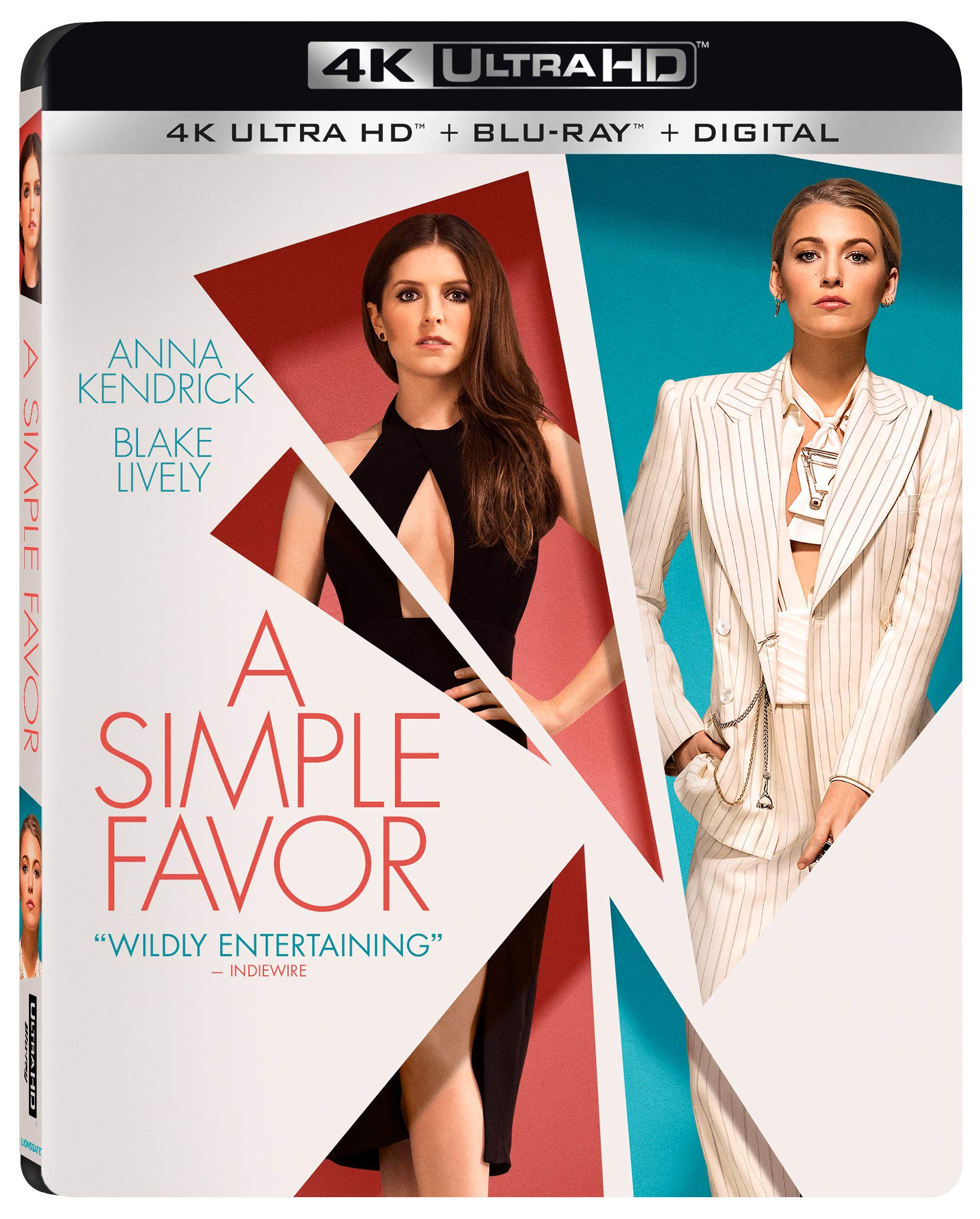4K Blu-ray : A Simple Favor (With Blu-ray, 4K Mastering, 2 Pack, Subtitled, Dolby)