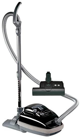 SEBO 9688AM Airbelt K3 Canister Vacuum With ET 1 Powerhead And Parquet  Brush, Black