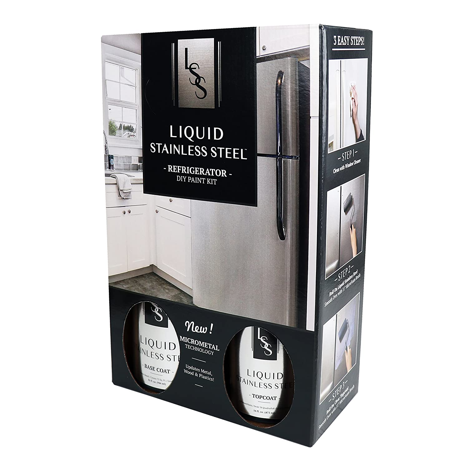 Liquid Stainless Fridge Kit Stainless Steel
