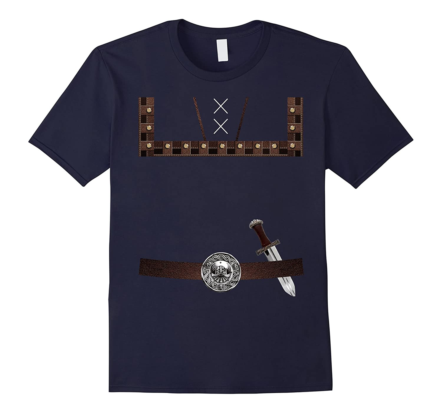Adventurous Viking Costume Halloween T-shirt-FL