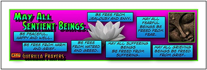 "Amazon com: Buddhist Blessing Prayer Sticker No  10 (2""-6"