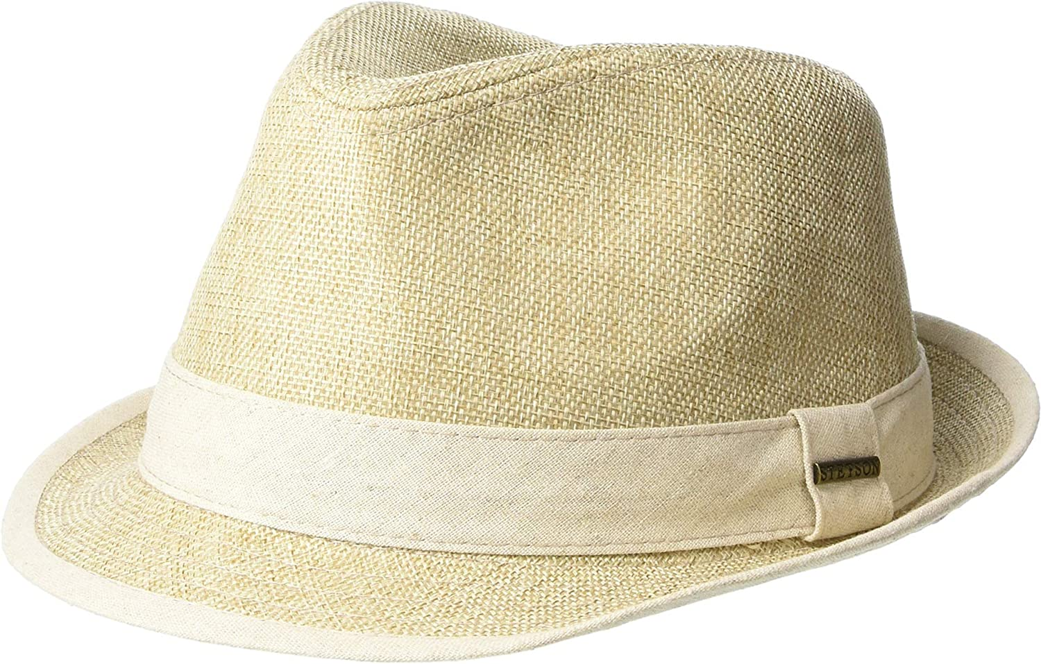 1b44023a4d940 Stetson Men s Polyester Fedora Tan LG at Amazon Men s Clothing store