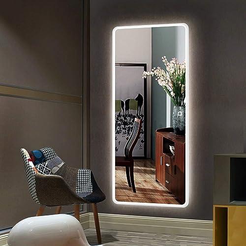 Hans Alice Large 65″x22″ LED Full Length Backlit Mirror