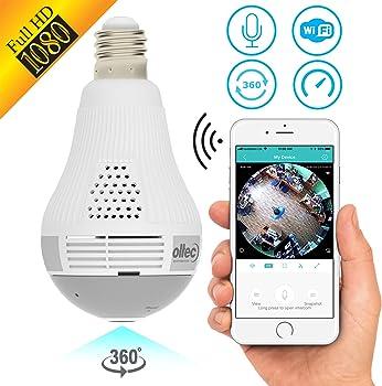 OLTEC Light Camera Security 1080p WiFi Wireless Bulb