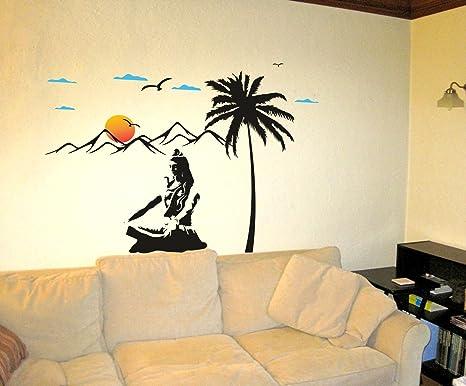 Buy Decor Kafe Meditating Shiva Shivji Under Tree Wall Sticker