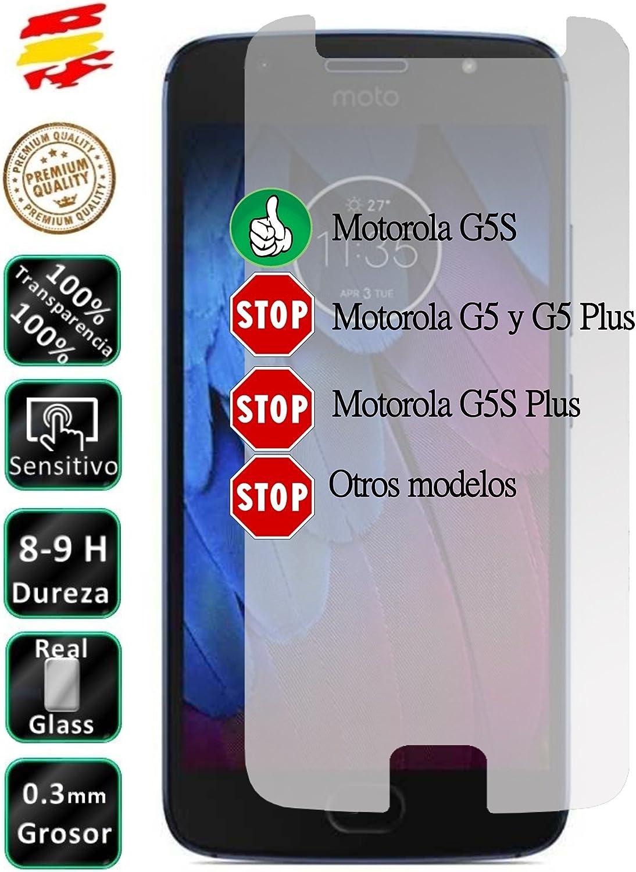 Movilrey Protector para Motorola Moto G5S 5.2 Cristal Templado de ...