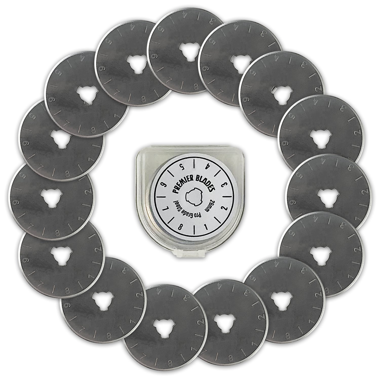 Premier Blades 28mm Rotary Cutter Blades – 15 Pack