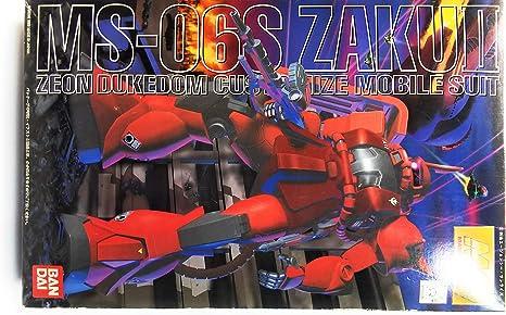Bandai Gundam MG 1//100 Scale MS 06S ZAKU II Ver2.0 REAL TYPE COLOR Model Kit