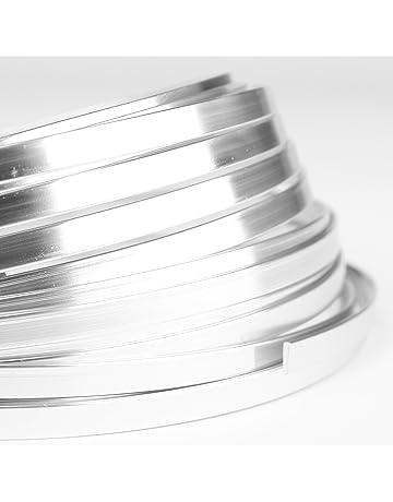 Creacraft Alambre de Aluminio Artístico para Bisutería - 1x5mm, 5 Metros (Plata)