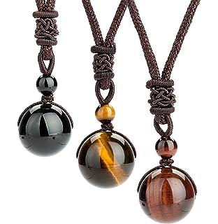 Amazon newkelly 1pc women men necklace handmade vintage resin revolia 2 3 pcs tiger eyes beads necklace for men women natural stone pendant adjustable audiocablefo