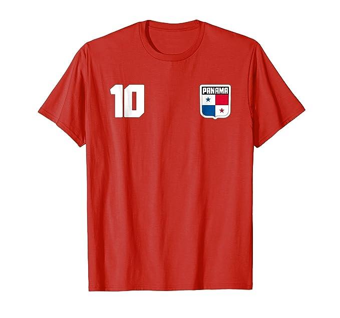 Mens Panama T-shirt Panamanian Flag Soccer Futbol Fan Jersey 2XL Red