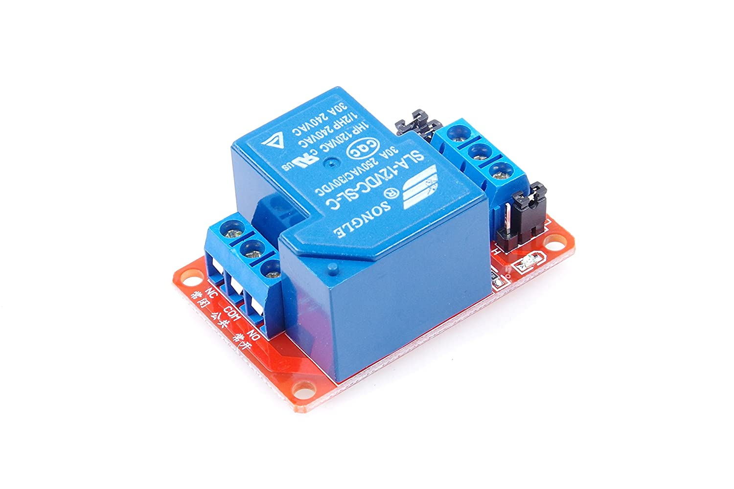 KNACRO 4-Channel Relay Module DC 24V with Optocoupler Isolation H//L high//Low Level Triger for Arduino DC 24V 10A, 4-Channel