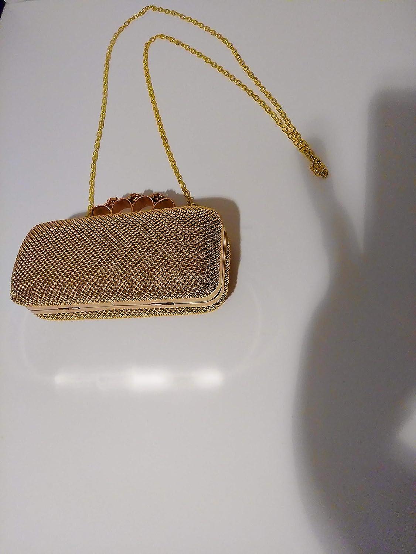 Gold Beaded Clutch Purse